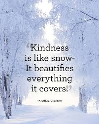 snow kindness
