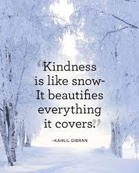 snow kindness