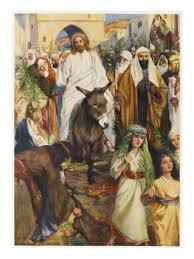 Jesus on donkey