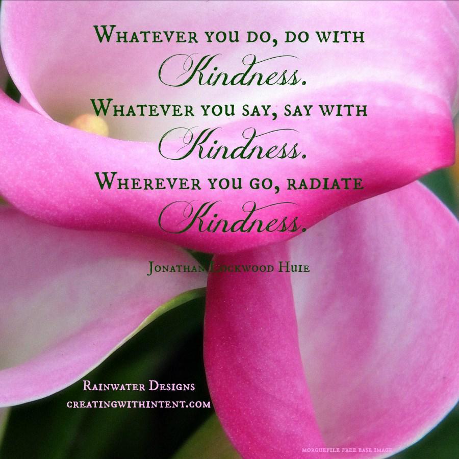 kindness radiating