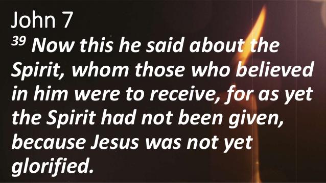 John 7 39
