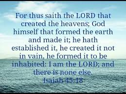 Isaiah 45 18