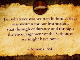 Romans 15 4, Hope